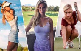 Paige Spiranac evde golf oynamaya devam ediyor